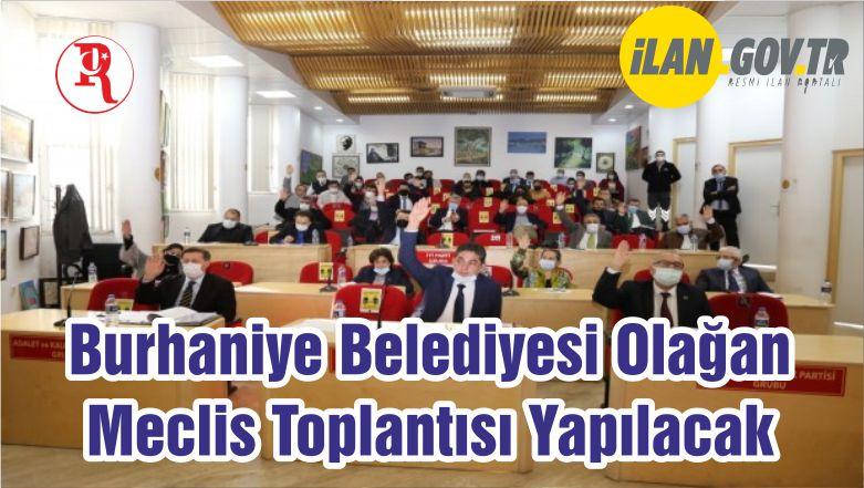 Burhaniye Belediyesi Olağan Meclis Toplantısı Yapılacak