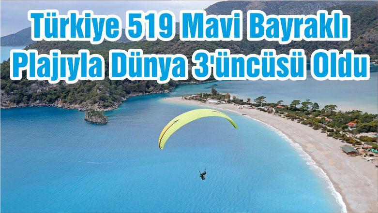 Türkiye 519 Mavi Bayraklı Plajıyla Dünya 3'üncüsü Oldu