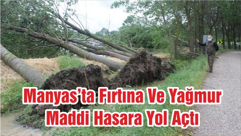 Manyas'ta Fırtına Ve Yağmur Maddi Hasara Yol Açtı