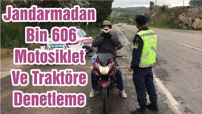 Jandarmadan Bin 606 Motosiklet Ve Traktöre Denetleme