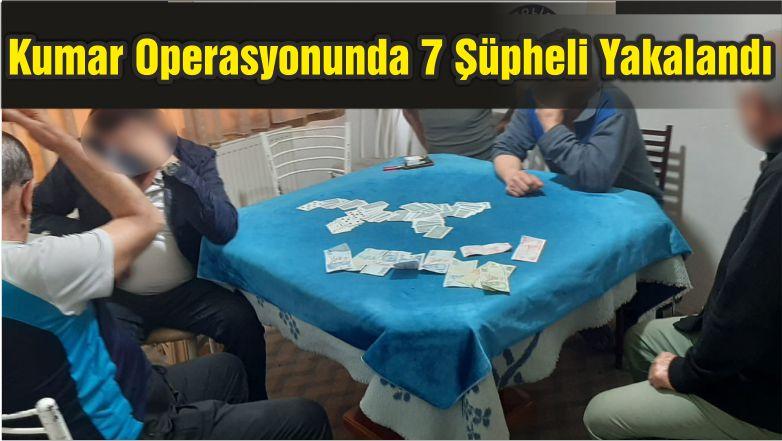 Balıkesir'de Kumar Operasyonunda 7 Şüpheli Yakalandı