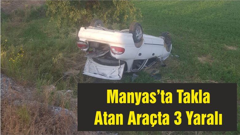 Manyas'ta Takla Atan Araçta 3 Yaralı
