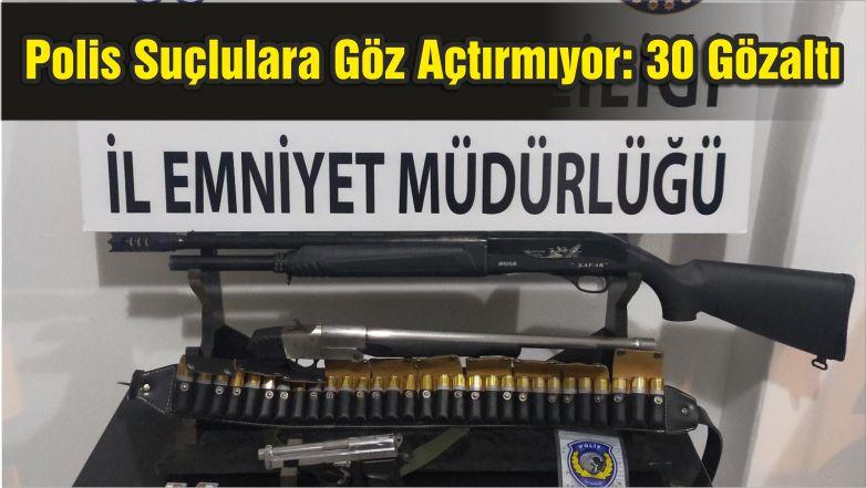 Balıkesir'de Polis Suçlulara Göz Açtırmıyor: 30 Gözaltı