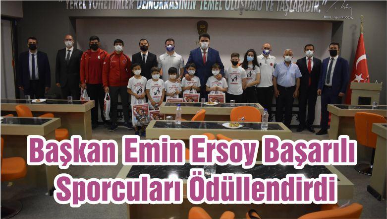 Başkan Emin Ersoy Başarılı Sporcuları Ödüllendirdi