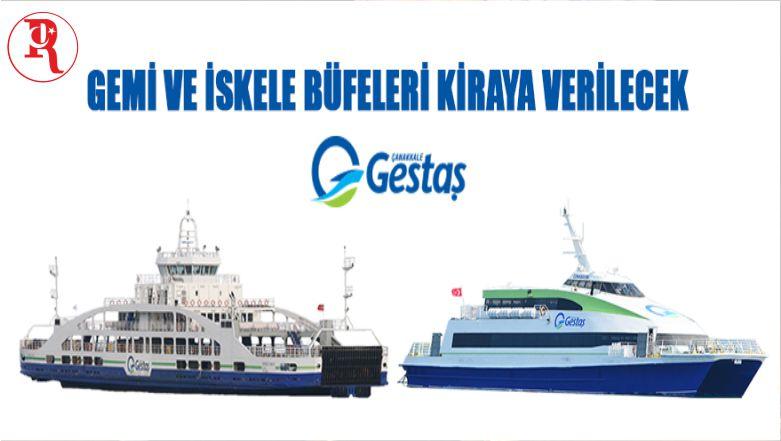 Gestaş Deniz Ulaşım Turizm Ticaret A.Ş. Gemi Ve İskele Büfelerini Kiraya Verecek
