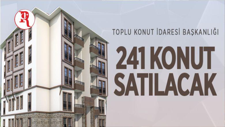 TOKİ Burdur'da 241 Konutu Satışa Sunuyor
