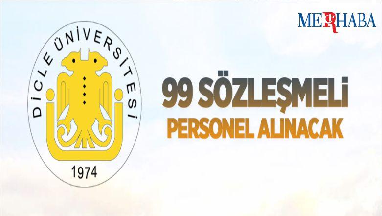 Dicle Üniversitesi 99 Sözleşmeli Personel Alıyor