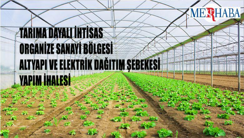 Tarıma Dayalı İhtisas Organize Sanayi Bölgesi Altyapı Ve Elektrik Dağıtım Şebekesi Yapım İhalesi