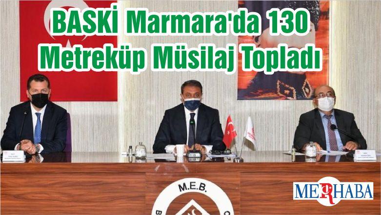 BASKİ Marmara'da 130 Metreküp Müsilaj Topladı