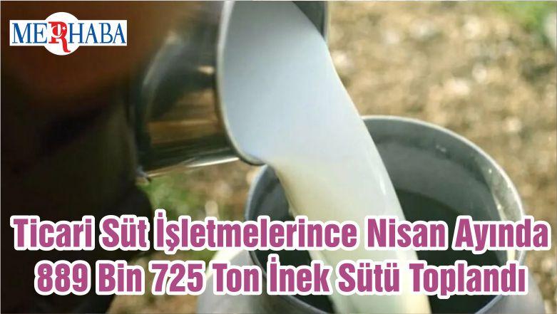 Ticari Süt İşletmelerince Nisan Ayında 889 Bin 725 Ton İnek Sütü Toplandı