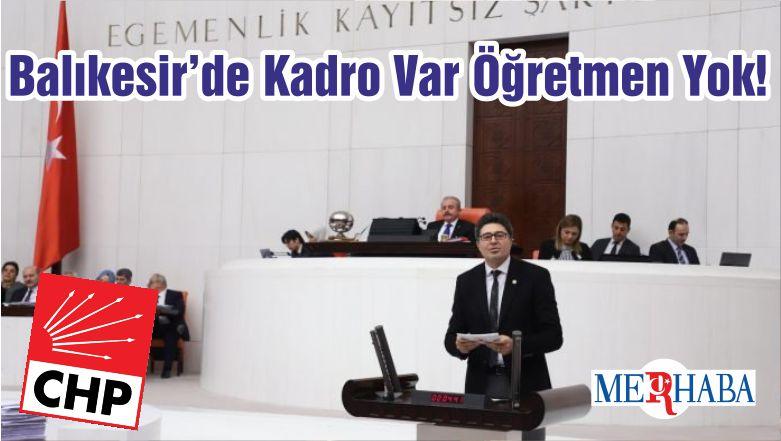 Balıkesir'de Kadro Var Öğretmen Yok!