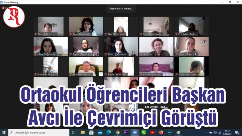Ortaokul Öğrencileri Başkan Avcı İle Çevrimiçi Görüştü