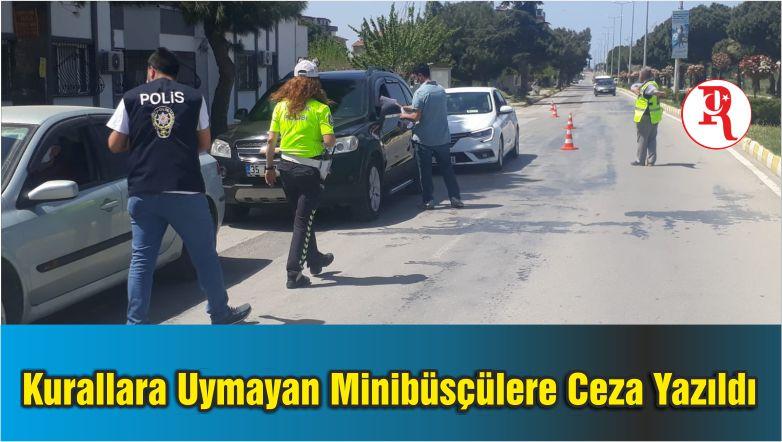Burhaniye'de Kurallara Uymayan Minibüsçülere Ceza Yazıldı