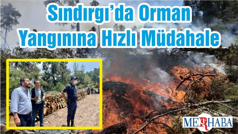 Sındırgı'da Orman Yangınına Hızlı Müdahale