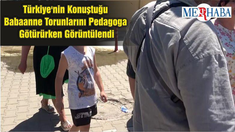 Türkiye'nin Konuştuğu Babaanne Torunlarını Pedagoga Götürürken Görüntülendi