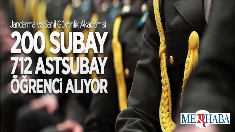 Jandarma Ve Sahil Güvenlik Akademisi 712 Astsubay Öğrenci Alıyor