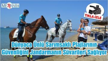 Dünyaca Ünlü Sarımsaklı Plajlarının Güvenliğini Jandarmanın Süvarileri Sağlıyor