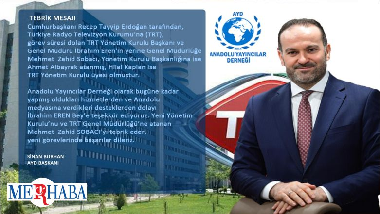 AYD'den TRT Yönetimine Tebrik Mesajı