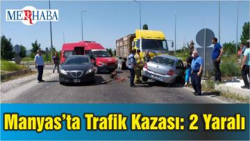 Manyas'ta Trafik Kazası: 2 Yaralı