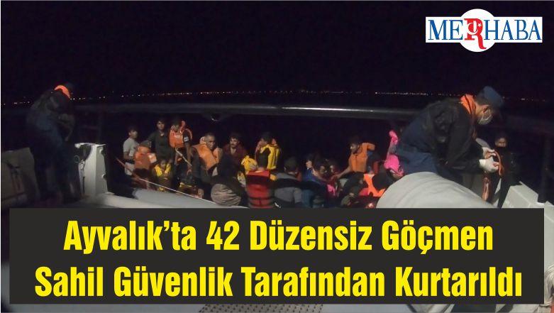 Ayvalık'ta 42 Düzensiz Göçmen Sahil Güvenlik Tarafından Kurtarıldı