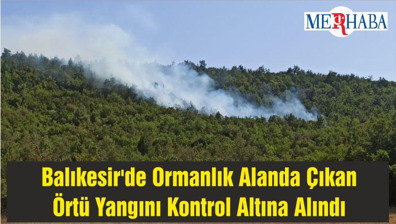 Balıkesir'de Ormanlık Alanda Çıkan Örtü Yangını Kontrol Altına Alındı