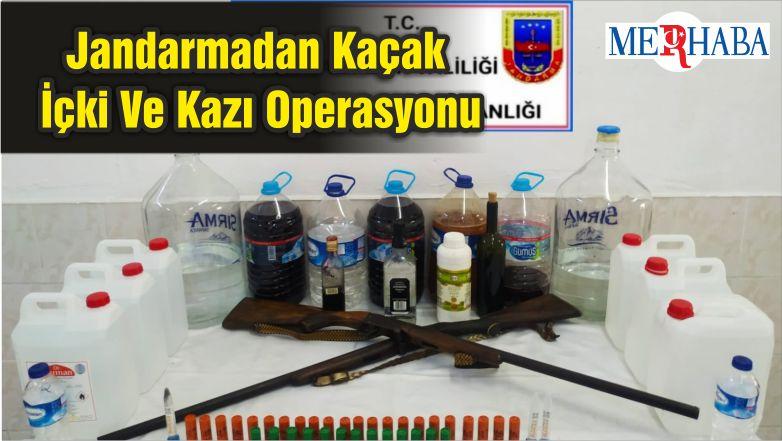 Jandarmadan Kaçak İçki Ve Kazı Operasyonu
