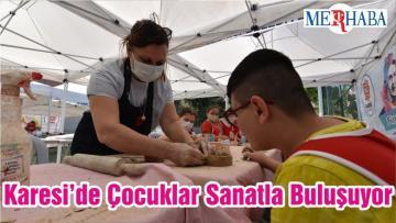 Karesi'de Çocuklar Sanatla Buluşuyor