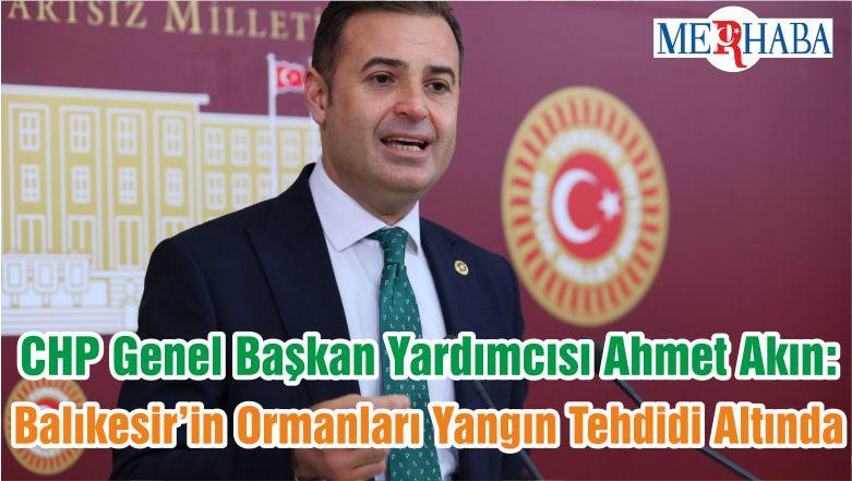 CHP Genel Başkan Yardımcısı Ahmet Akın: Balıkesir'in Ormanları Yangın Tehdidi Altında
