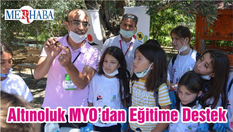 Altınoluk MYO'dan Eğitime Destek