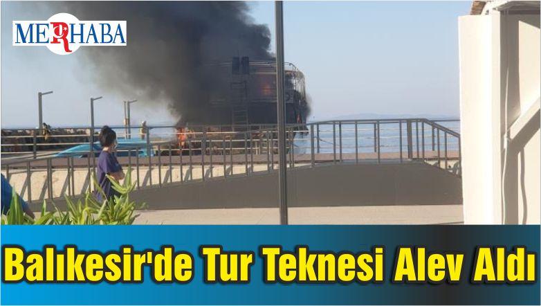 Balıkesir'de Tur Teknesi Alev Aldı