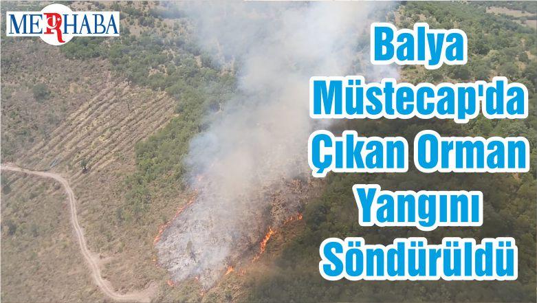 Balya Müstecap'da Çıkan Orman Yangını Söndürüldü