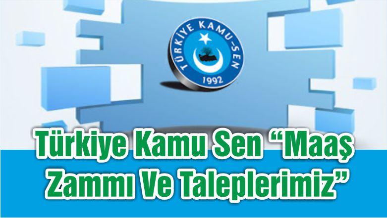 """Türkiye Kamu Sen """"Maaş Zammı Ve Taleplerimiz"""""""