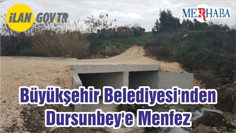 Balıkesir Büyükşehir Belediyesi'nden Dursunbey'e Menfez