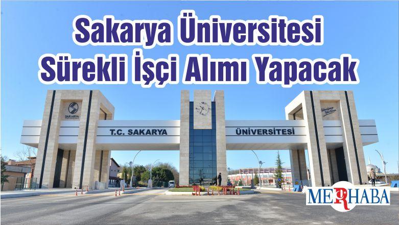 Sakarya Üniversitesi Sürekli İşçi Alımı Yapacak