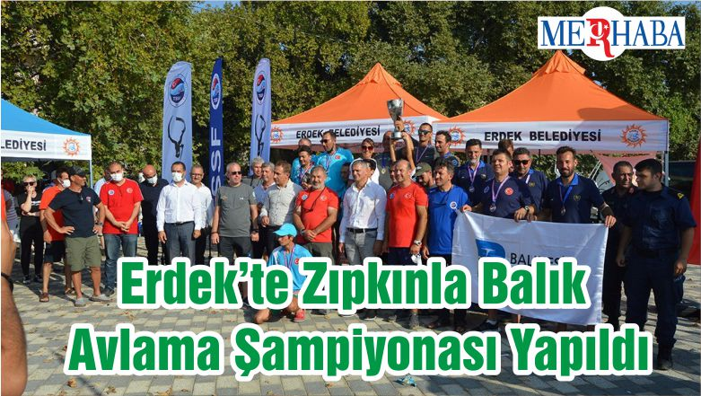Erdek'te Zıpkınla Balık Avlama Şampiyonası Yapıldı