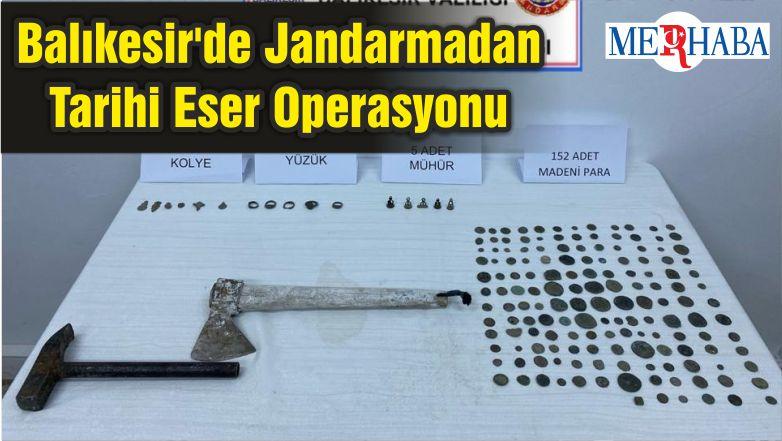 Balıkesir'de Jandarmadan Tarihi Eser Operasyonu