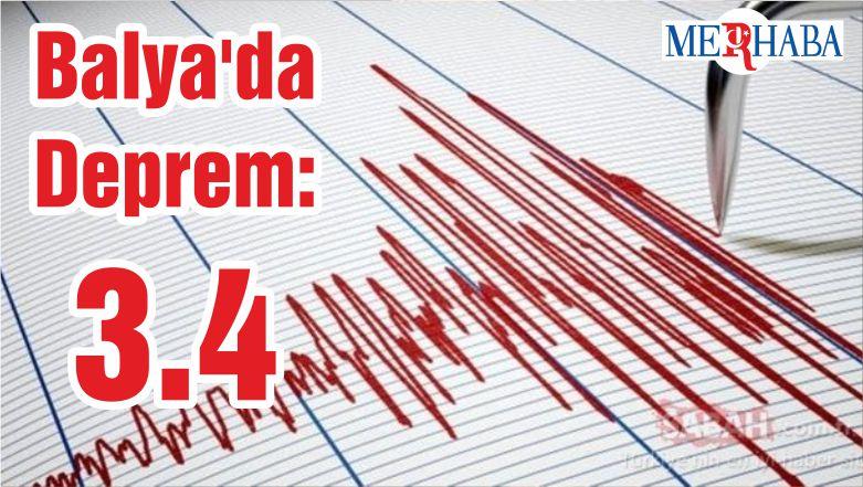 Balya'da Deprem: 3.4