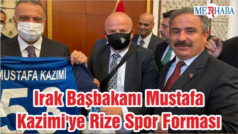 Irak Başbakanı Mustafa Kazimi'ye Rize Spor Forması