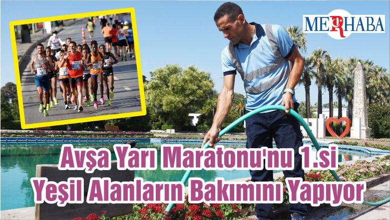 Avşa Yarı Maratonu'nu 1.si Yeşil Alanların Bakımını Yapıyor
