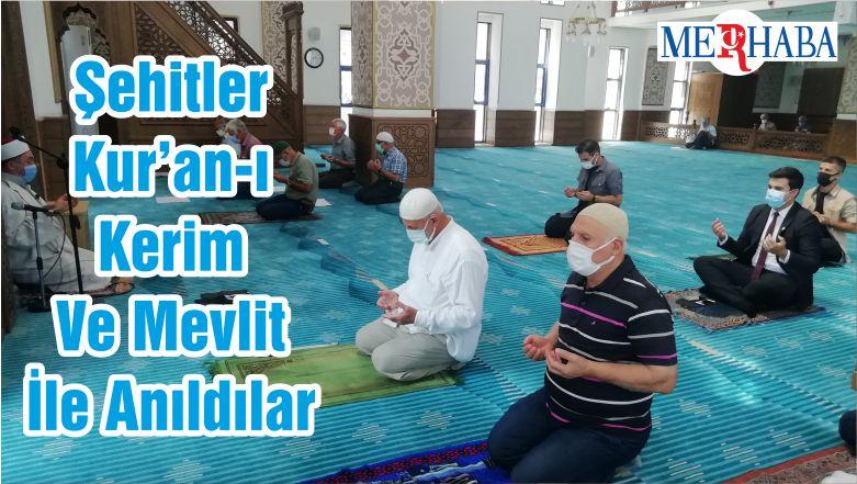 Şehitler Kur'an-I Kerim Ve Mevlit İle Anıldılar