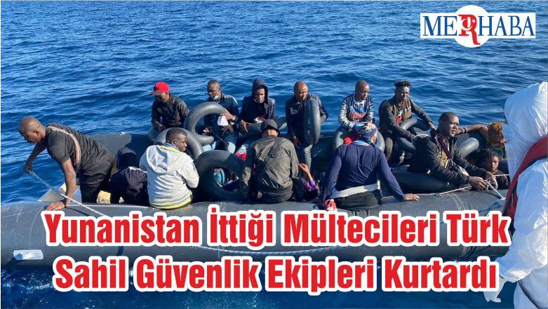 Yunanistan'ın İttiği Mültecileri Türk Sahil Güvenlik Ekipleri Kurtardı