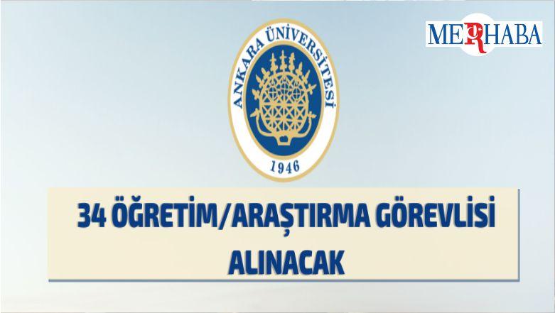 Ankara Üniversitesi'nden Araştırma-Öğretim Görevlisi Alım