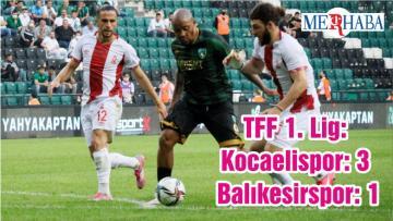 TFF 1. Lig: Kocaelispor: 3 – Balıkesirspor: 1