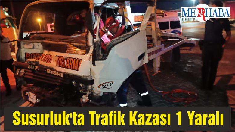 Susurluk'ta Trafik Kazası 1 Yaralı