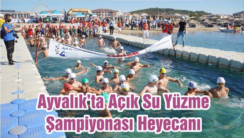 Ayvalık'ta Açık Su Yüzme Şampiyonası Heyecanı