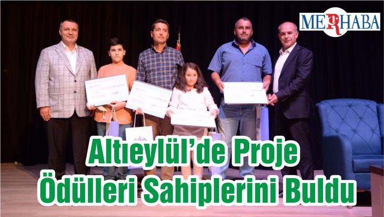 Altıeylül'de Proje Ödülleri Sahiplerini Buldu