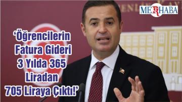 'Öğrencilerin Fatura Gideri 3 Yılda 365 Liradan 705 Liraya Çıktı!'