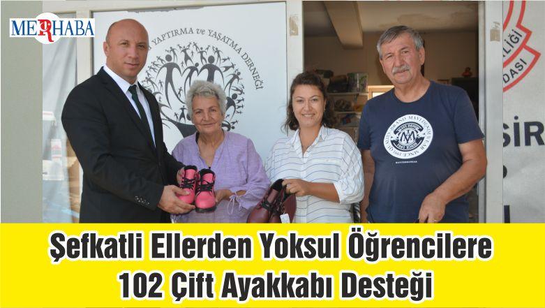 Şefkatli Ellerden Yoksul Öğrencilere 102 Çift Ayakkabı Desteği