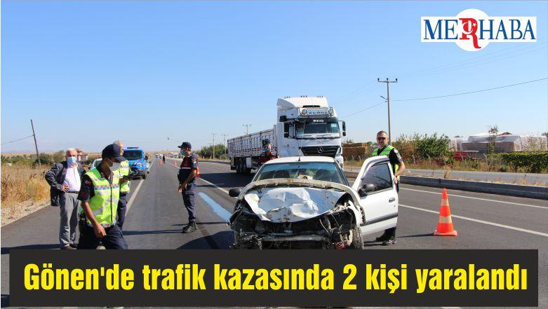 Gönen'de trafik kazasında 2 kişi yaralandı
