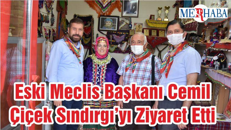 Eski Meclis Başkanı Cemil Çiçek Sındırgı'yı Ziyaret Etti